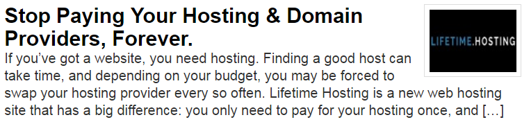 Lifetime Hosting