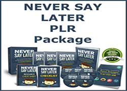 Never Say Later PLR image